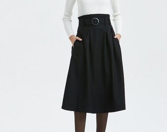 c1ea6f4adc66dd black wool skirt