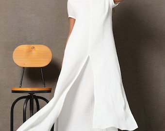 be661148acd White linen dress