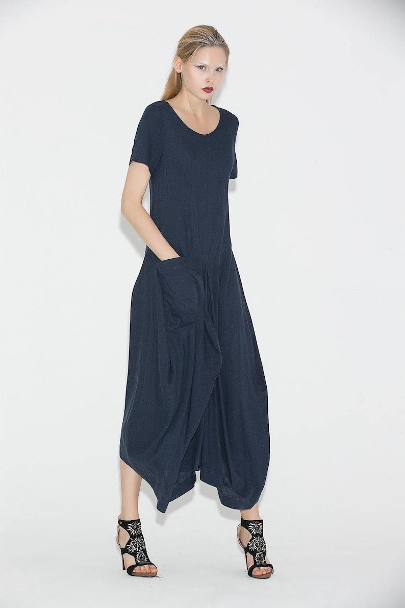 9ec81177e4f Linen dress navy blue dress womens dresses maxi dress