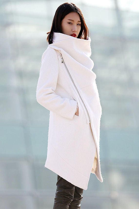 White Coat Winter Wool Womens