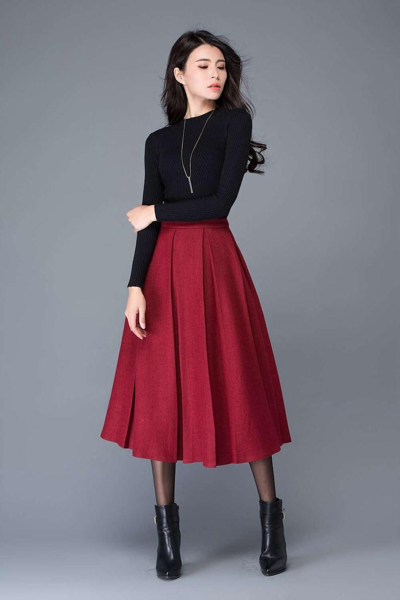 1e3384423 Long Wool Skirts For Winter