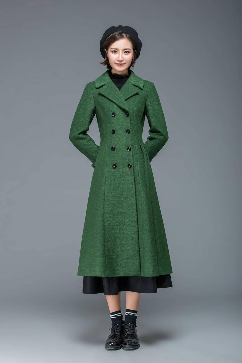 2a6a195b7f0b3 Wool coat long coat winter coat womens coat winter coat