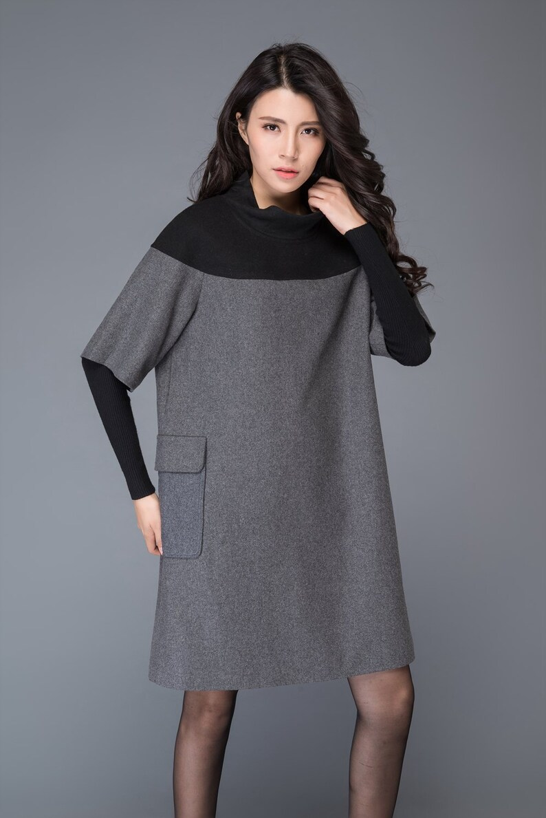 5fcfe48623c Tunique de laine robe tunique robe dhiver mini robe robe