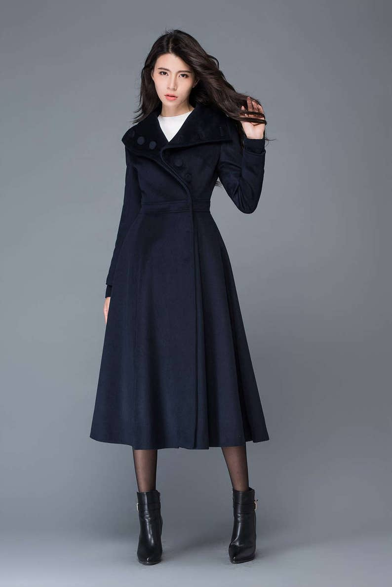 98603714a2b02 Midi wool coat wool coat womens winter coats dress coat