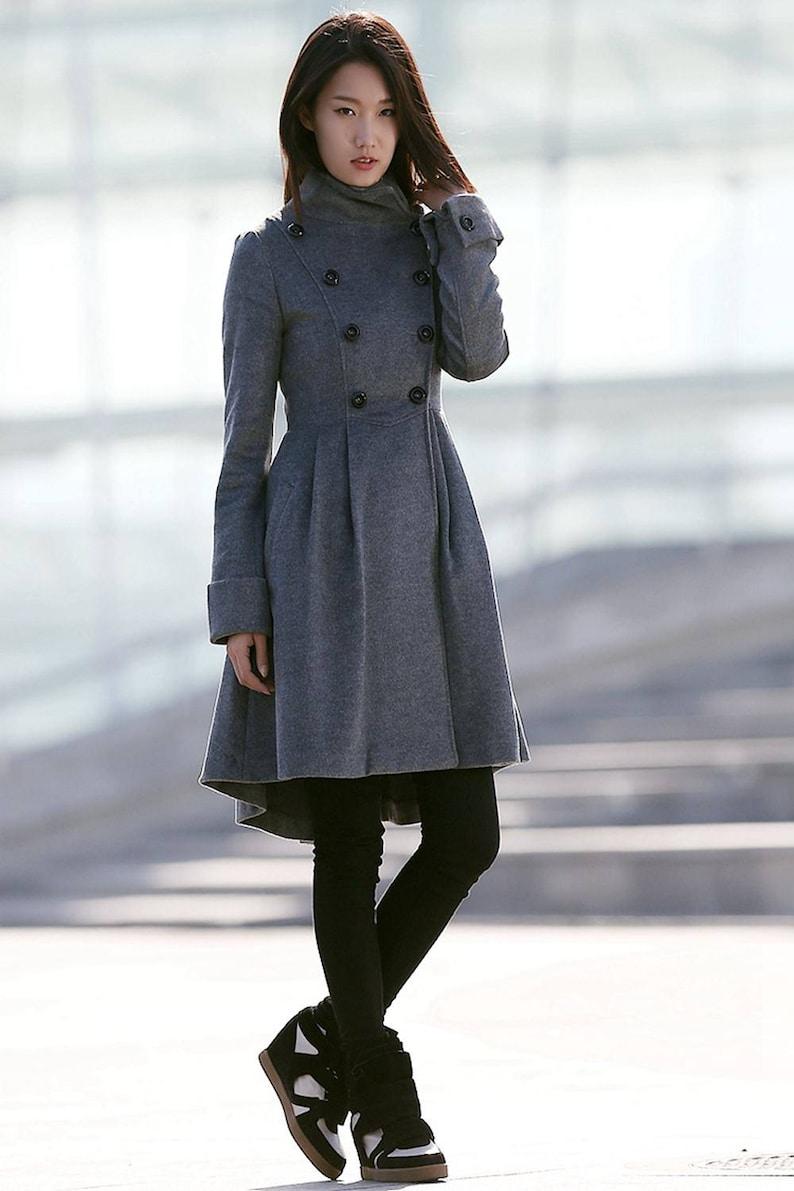Gray coat wool coat Womens coat womens coat warm coat Gray