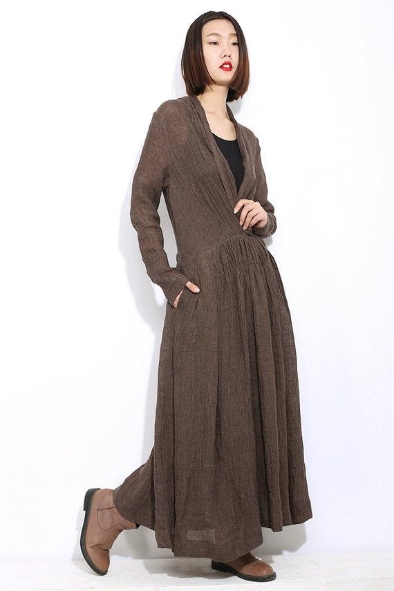 d5affee7fc Linen dress maxi dress causal dress womens dresses dress