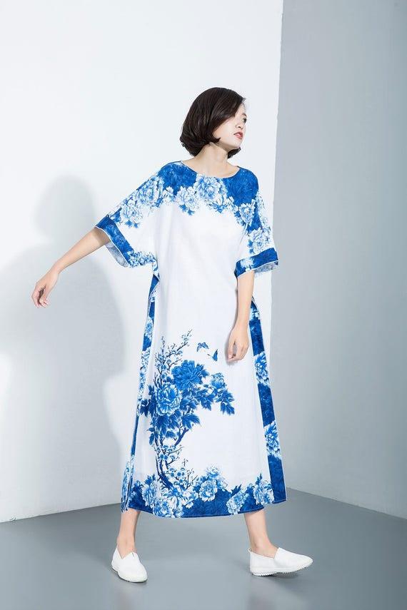 9ea545169c8 linen dress linen dress woman print linen dress maxi dress