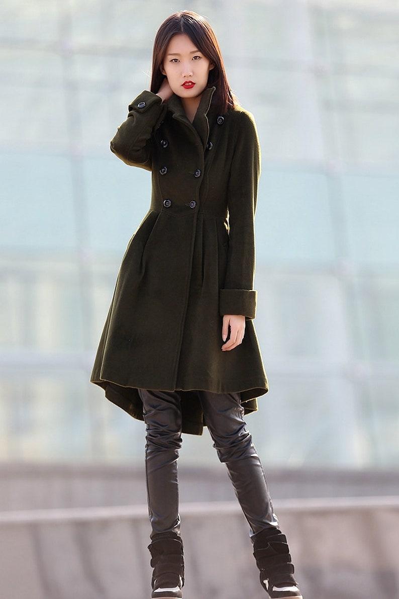 Green coat winter coats for women winter coat coat jacket C1-green -C178