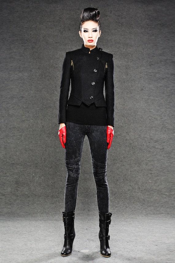 jacket jacket jacket warm C043 short coats jacket Black coat wool winter womens womens mini jacket short coat winter jackets jacket ngxwwv87qP