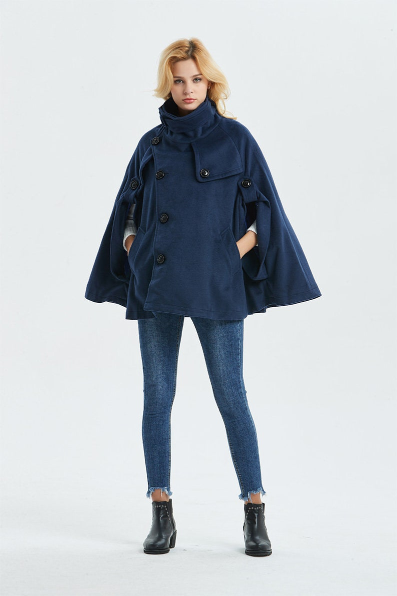 4889a2b682dfc Cape coat Warm winter cape Womens cape Short wool coat