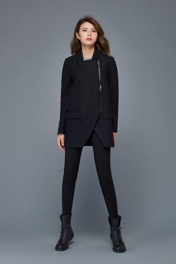 wool warm women coat coat coat coats Short coat wool short winter size jacket plus coat short C976 jacket wool asymmetrical q16nwFXx