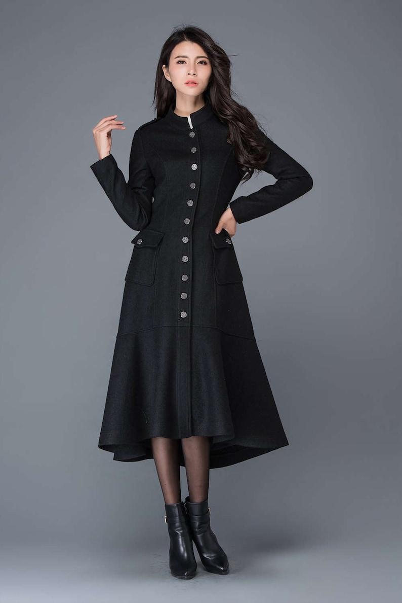 5bd9534683 Maxi coat wool coat long black coat dress coat winter warm | Etsy