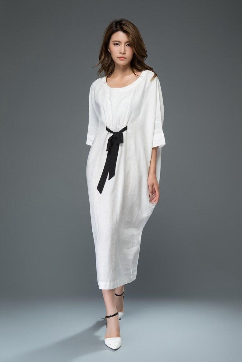 a8256f6e133c White Linen Dress linen dress summer dress midi dress