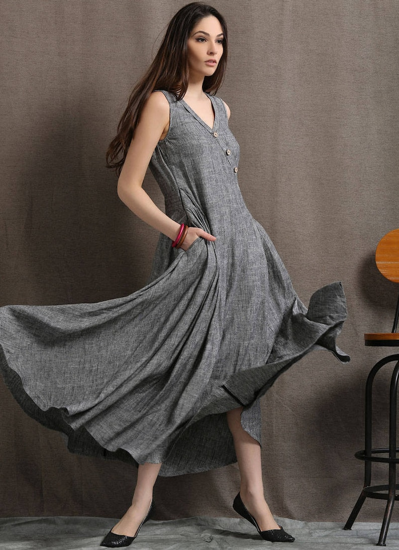 c73d293ed0 Long linen dress linen dress maxi linen dress womens