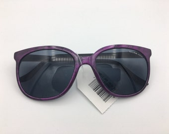 e832c2db27 NEW BOLLE ACRYLEX 396 Purple w  Black Pattern Frame Gray Lenses Sunglasses.  Some dust from being stored. vintage 1980 s