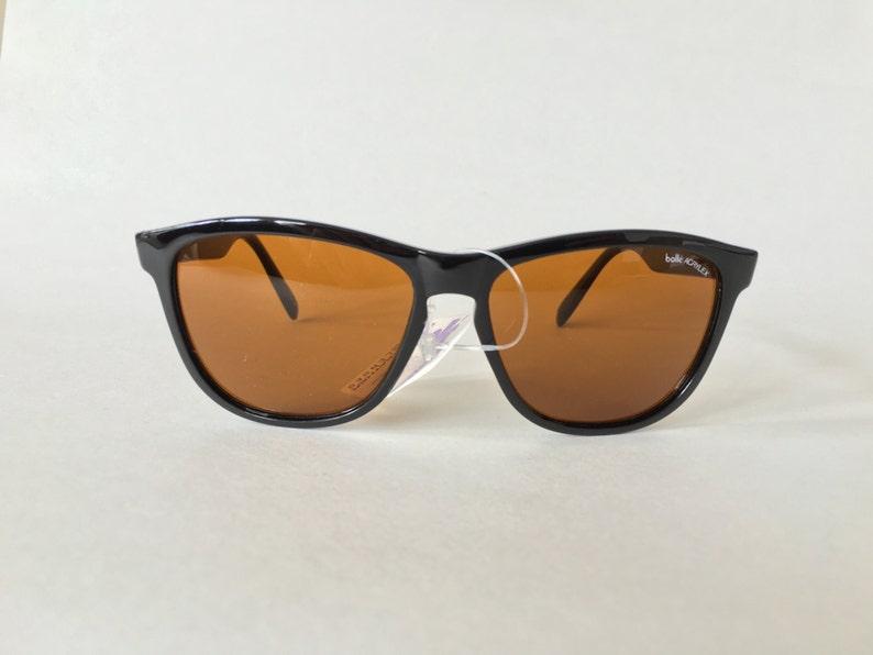 3f8883fc47 NEW NOS 1980 s Bolle Acrylex 473 black sunglasses amber