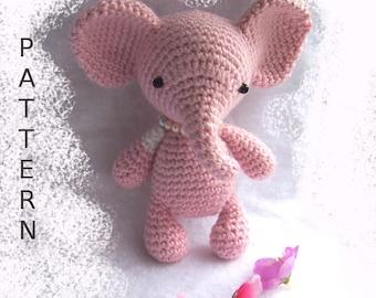 Ollie, crochet Elephant pattern | Son's Popkes | 270x340