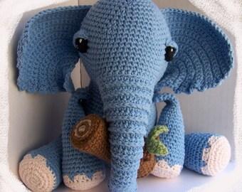Miniature elephant crochet realistic elephant by FerFoxDesign ... | 270x340