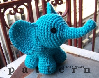Baby Elephant-Instant Download Crochet Pattern-Toy Elephant-Amigurumi Elephant-DIY Crochet Toy-Stuffed Toy Animal