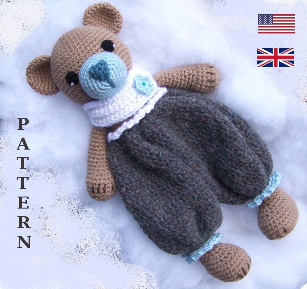 Crochet Bear Pattern Crochet Rag Doll Bear Pattern Amigurumi Etsy