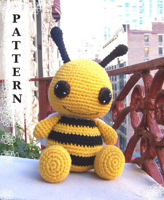 Instant Download Crochet Pattern Cuddly Bumble Bee Amigurumi Etsy