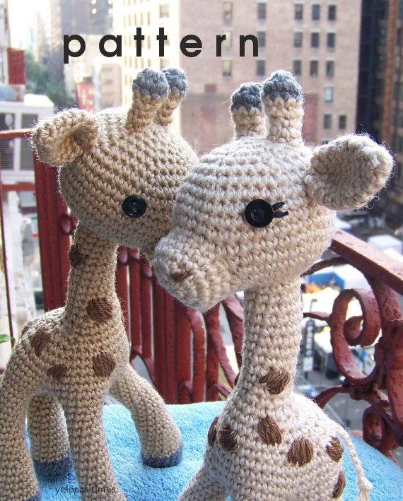 Crochet Pattern Baby Giraffe Small Toy Crochet Pattern Toy Etsy