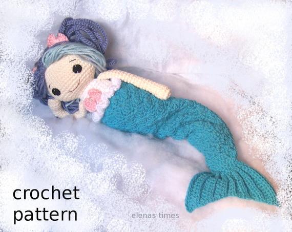 Crochet Mermaid Pattern Crochet Rag Doll Pattern Amigurumi Etsy