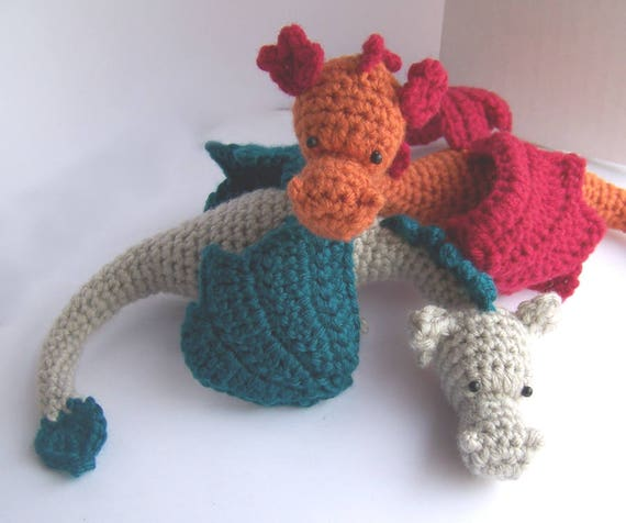 Crochet Dragon Pattern Amigurumi Dragon Pattern Stuffed Etsy