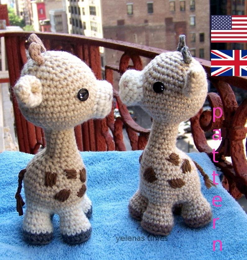Baby Giraffe-Instant Download Crochet Pattern-Toy image 0