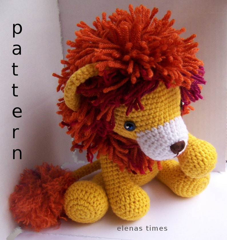 Instant Download Crochet Pattern-Baby Lion-Toy Lion-Amigurumi  189301dc1a4