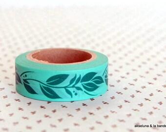 Masking tape / washi tape / adhesive strip foliage 15mm x 10m