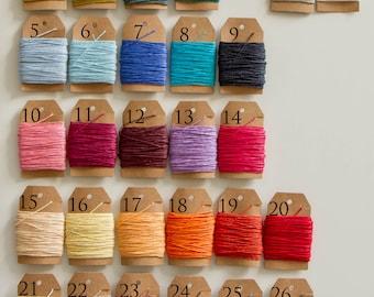 Waxed linen, linen thread 10m