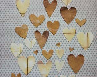 Hand made hearts gift tags