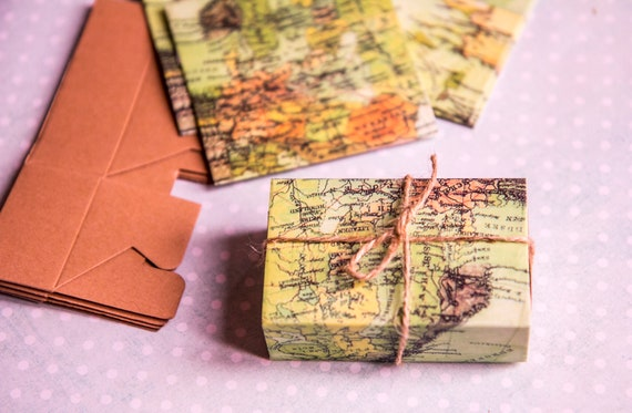 World Map Party Supplies.Wedding Party Favors Box Candy Gift Box With World Map Theme Etsy