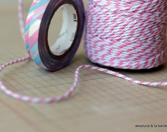 Pink baker's twine, packaging twine 10m