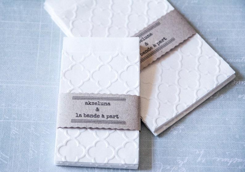 Pack of 10 Embossed Gift bags wedding bags