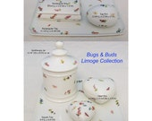 French Limoges quot Bugs Buds quot Tray Apothecary Jar Jewelry Heart Egg Trinket Box (Heart Box)