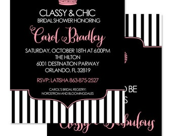 Coco Chanel Invite Etsy