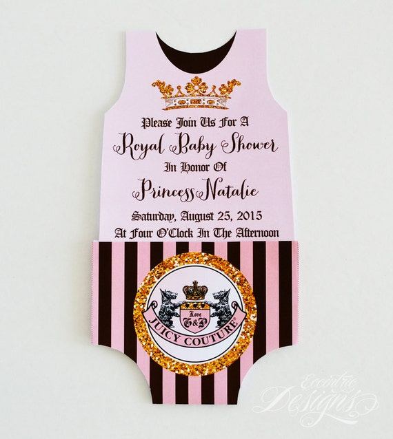Juicy Couture Baby Shower You Print Juicy Couture Etsy