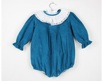 15da0af6dd86 Bubble romper - Teal Long Sleeve corduroy romper - Available in more colors