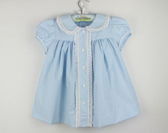 Girls short sleeve Dress - Gingham dress - Available in several colors