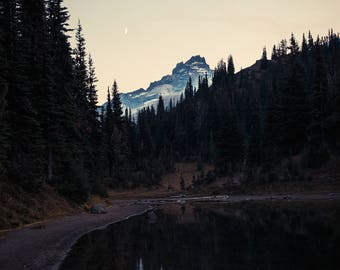 Moon over Shadow Lake