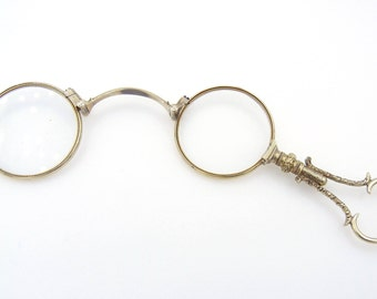 8262ddf3179f Antique 10k Solid Yellow Gold Spectacles - Antique Eye Glasses - Eye Wear -  Solid 10k Yellow Gold   1428