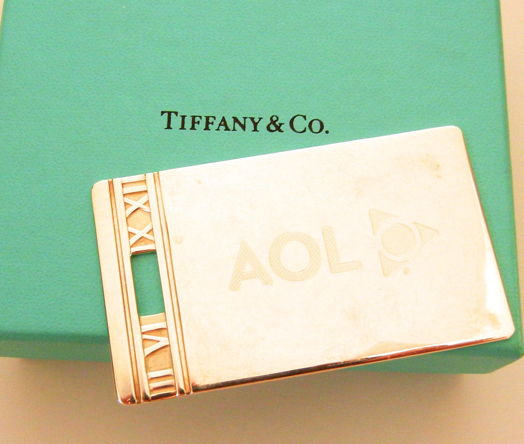 d75ca108b Authentic Tiffany Co Atlas Collection Large Luggage Tag 925   Etsy