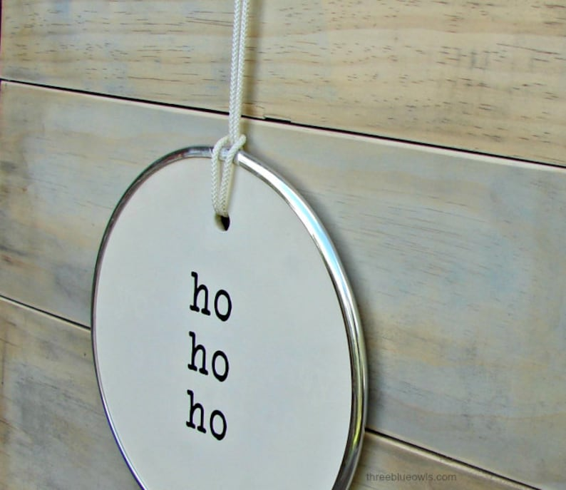 Giant Ho Ho Ho round hang tag sign 10 inches Home