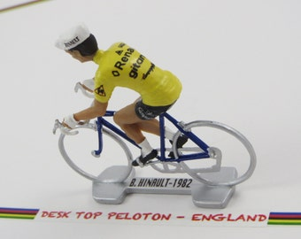 Bernard Hinault Tour de France - Renault Elf - Yellow Jersey - 1982 -  Individually Handcrafted French Peloton Cycling Figure 59976321e