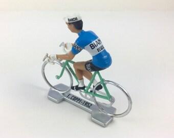 Cycling  Figurine Fausto Coppi Cycling - Bianchi 1952 - Cycling Gift, Gift for Cyclist, Cycling Fan, Cyclist Gift, Cyclist Birthday, Bike