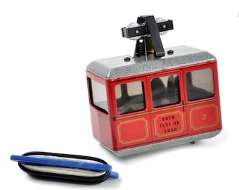 Personalised Cable Car Model Retro Vintage KOVAP 1946 Tin Wind Up Birthday Anniversary Gift Personalised Skiing Trip Easter Gift