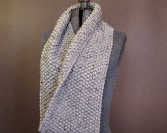 Chunky Textured Knit Loop Scarf - The Congaree - MADE TO ORDER