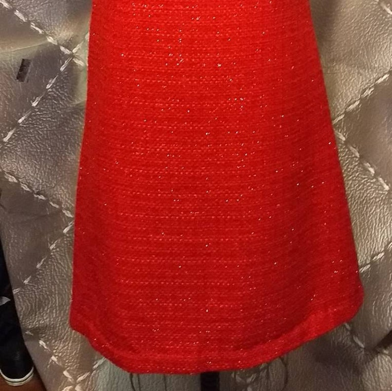 Nan-made Linton Metallic Tweed  Shift Dress Silk Charmeuse Lined Size 6.